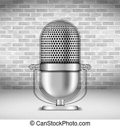 Microphone, vector eps10 illustration