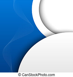 Blue 3D abstract background Vector illustration