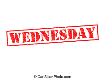 WEDNESDAY Rubber Stamp over a white background.