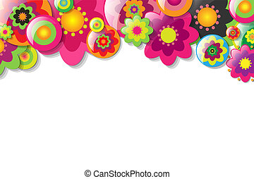 Colorfull Flowers, Vector Illustration