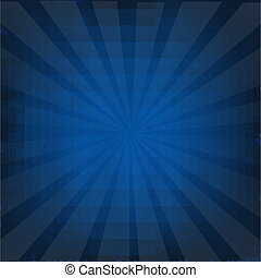 Dark Blue Background With Sunburst, With Gradient Mesh,...