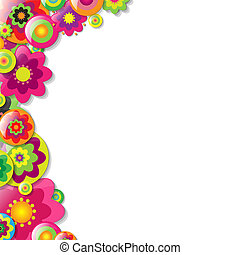Colorfull Flowers Bolder, Vector Illustration