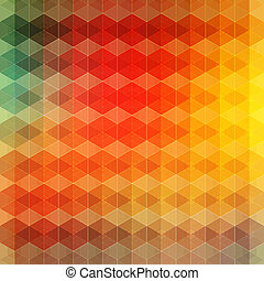 Geometric vintage background Vector illustration
