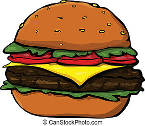 Hamburger - Cartoon hamburger