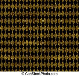 Black and Gold Harlequin Background - Elegant background of...
