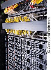 data center  - hardware in internet data center room
