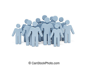 group of people, isolated illustration