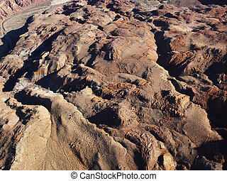 Grand Canyon area. - Aerial view of Grand Canyon National...