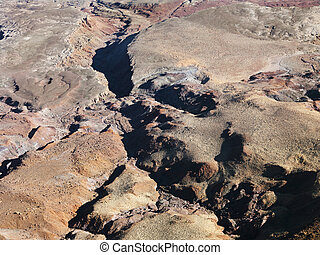 Grand Canyon area - Aerial view of Grand Canyon National...