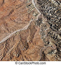 Grand Canyon aerial. - Aerial view of Grand Canyon National...