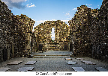 Monastic City with Ruins of The Cathedral located in...