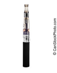 electronic cigarette - an electronic cigarette on a white...