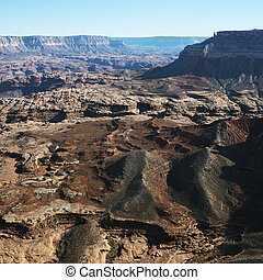 Grand Canyon aerial - Aerial view of Grand Canyon National...