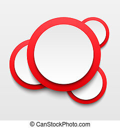 White paper round bubble - Vector illustration of white...