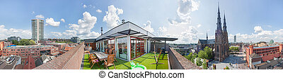Expensive large penthouse apartment - 360 panoramic view of...