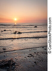 Irish Sea sunrise at Bray County Wicklow Ireland