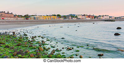 Bray fishing village in County Wicklow Ireland