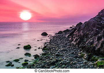 Sunrise at Bray Head in the little fisherman's town of Bray...