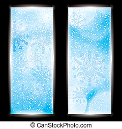 Abstract winter background banner
