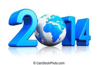 Novo, ano, 2014, conceito