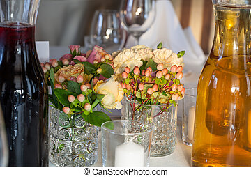 Decoration on a reception table