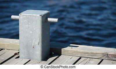 mooring bollard - HD1080: mooring bollard close to. Tripod....
