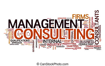 management consulting text cloud - An image of a management...