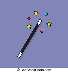 Magic Wand Sparkle  - Magic wand with sparkle surrounding