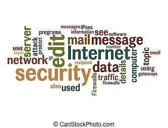 internet security text cloud - An image of an internet...