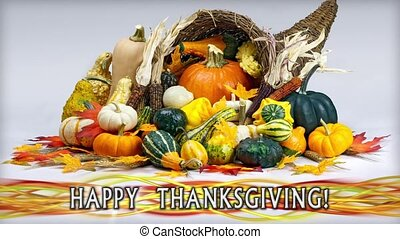 Happy Thanksgivign Cornucopia Loop - Perfectly seamless loop...