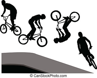 extreme cyclist - vector - illustration of extreme cyclist -...