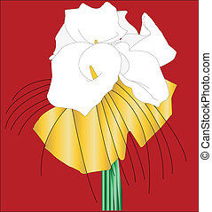 bouquet - vector - illustration of bouquet - vector a...