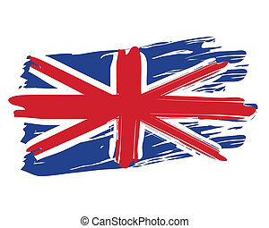 Painted British Flag - Painted British national flag...