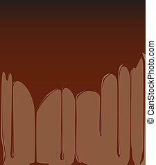 Molten Chocolate Background - A background of dripping...