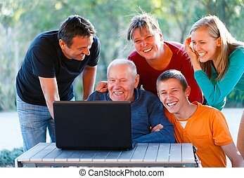 Having fun together - Happy family having a great time...