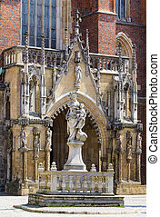 Front entrance to the Cathedral of St John Baptist - Front...