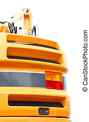 Digger excavator detail on white background