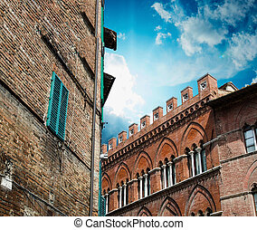 Medieval architecture and buildings - Tuscany, Italy