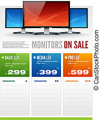 Flat LCD Monitor Display Sale Broch