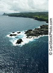 海岸線, ハワイ \