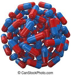 Capsule Pill Ball Prescription Medicine Sphere - A ball or...
