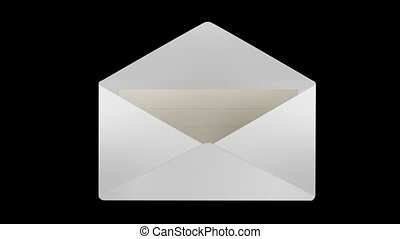 Mail Icon animation 2 Style Alpha chanel