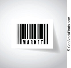 market ups barcode illustration design over a white...