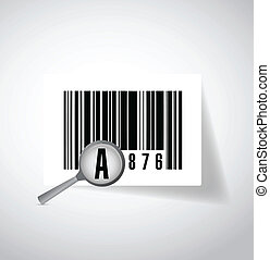magnify ups barcode illustration design over a white...