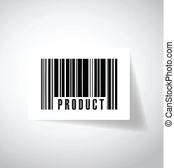 product ups barcode illustration design over a white...