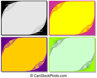 Backgrounds Wire Decoration with different colors - Set from...