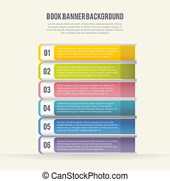 Book Banner Background - Vector illustration of abstract...