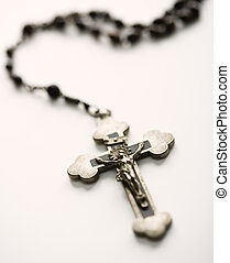 Rosary with crucifix - Christian rosary beads with crucifix...