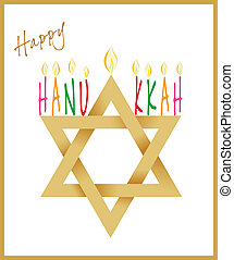 Star of David and Menorah Hanukkah - Star of David and...