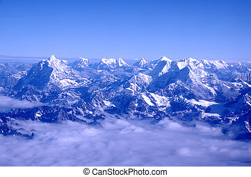 Himalayan Mountains - Photographed from an aircraft flying...